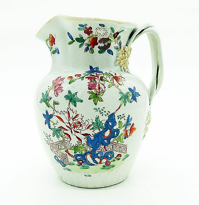 Ironstone Antique English Pottery rare & unusual Mason's type Jug C early 19thC