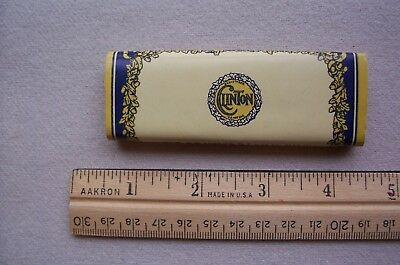 Vtg  Antique Clinton Brass Silk Straight Pins Package Dressmaking or Collector