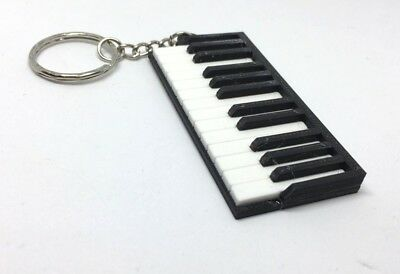 Piano Keyboard 3D Keyring / Bag Tag -Ideal Gift for Piano Player / Music Teacher