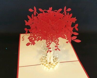 3D Pop Up cards - Luxury Colourful Flowers. Idea for Birthday, Get Well..all Occ
