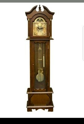 Grandfather Clock With Hourly Chiming With Night Silence Radio Controled Quartz