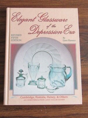 Antique reference book Elegant Glassware of the Depression Era fifth by Florence
