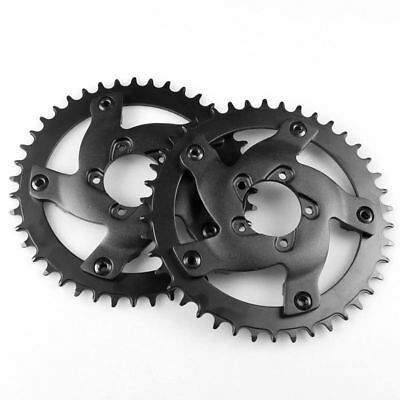 Black Bafang 42T 44T Chainwheel Chain Ring Crankset and Replacement Guard BBSHD