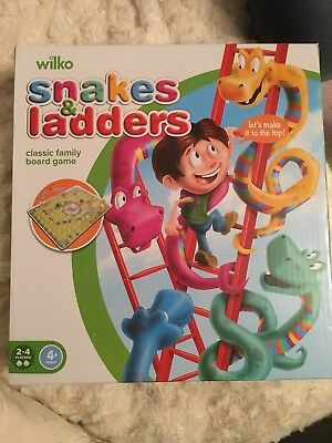 3D Snakes And Ladders Board Game Kids Childrens  Traditional Family Toy gift