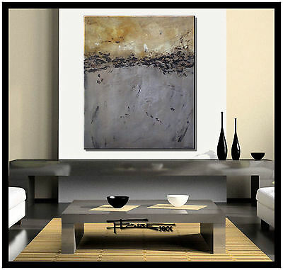 ABSTRACT PAINTING MODERN Canvas WALL ART LARGE, Framed, Signed USA ELOISExxx