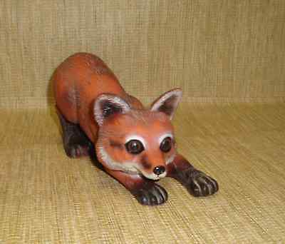 1998 Artline Indoor/Outdoor Filled Fox Statue 9 Inch Long