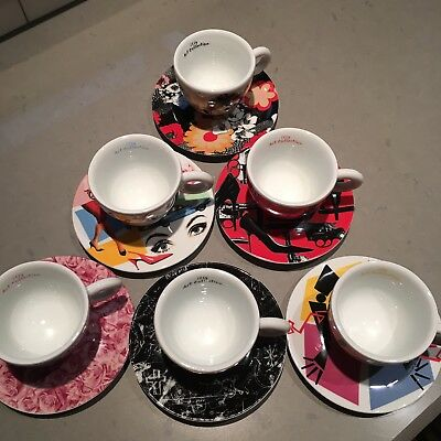 ILLY ART COLLECTION Coffee Set by MARC QUINN 6 Cappuccino