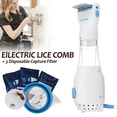 Lice zapper electric electronic head lice nit V- comb kills headlice AU