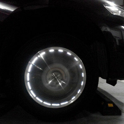 1418 Solar Auto Car Motorcycle LED Flash Wheel Valve Caps Neon Light Lamp Decora