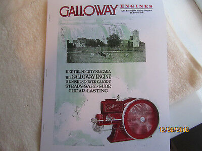 1929 Silver Anniversary William Galloway Gas Engine Catalog Section