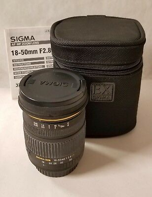 Sigma 18-50mm F/2.8 DC EX Zoom Lens for Canon