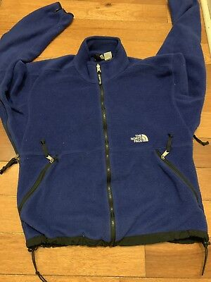 0d4efe2b1 VINTAGE THE NORTH Face Mens Blue Denali Fleece Vest Jacket Size M ...