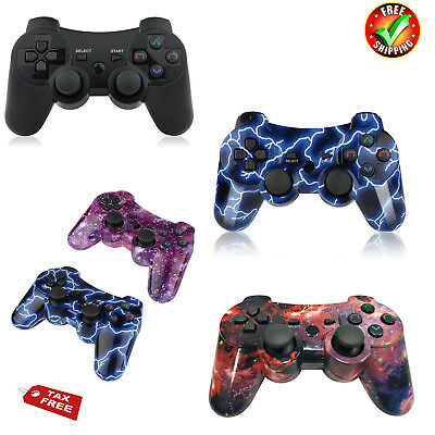 PS3 Wireless Bluetooth Game Controller for Playstation 3 Joystick w/ Charge Cord