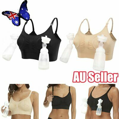 Women Hands Free Breast Feeding Pump Pumping Breastpump Maternity Nursing Bra JO