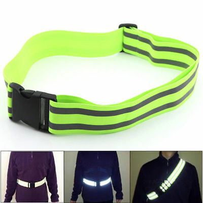 US High Visibility Reflective Gear Security Safety Belt Night Running Band Strap