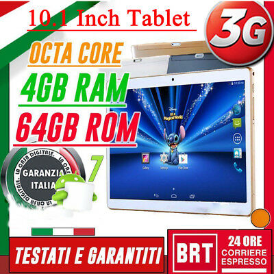 "TABLET 10.1"" IPS 3G OCTA CORE! 2.0GHz 4GB RAM 64GB ROM ANDROID 7! Tablet TY"
