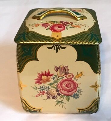 Vintage Decorative Floral Tin W/Lid~Made In West Germany