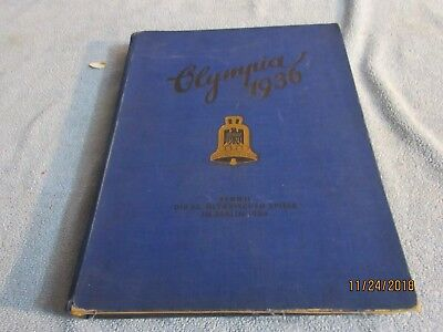 olympics 1936 2 volume set  cigarette cards intact colored plates