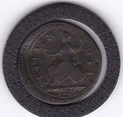 1720   King George   Farthing  Copper  Coin