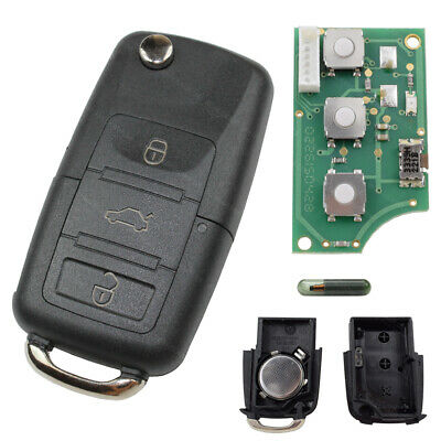 Flip Key 1J0959753AH Remote Control 434 Mhz Suitable for VW Skoda Seat Golf