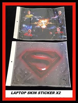 *Laptop Skin Sticker- Star Trek And Superman High Quality* X 2