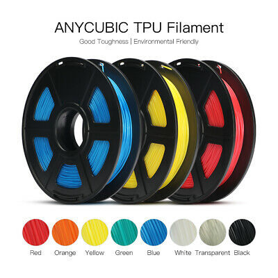 AU Anycubic TPU/Flexible 3D Printer Filament 1.75mm 500g Spool Black Elastic