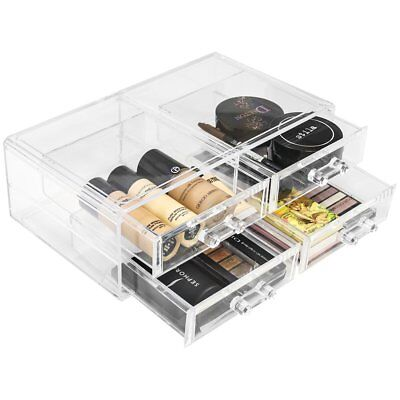 Sorbus Acrylic Cosmetics Makeup and Jewelry Storage Case Display Sets –Interlock