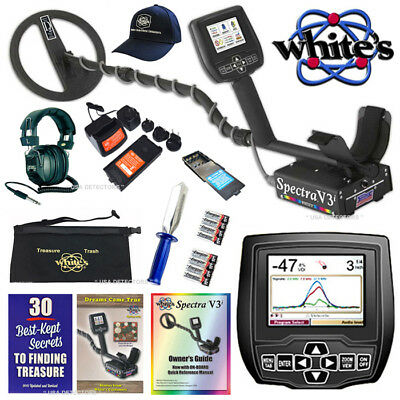 NEW Whites SPECTRA V3i Metal Detector With 6 BONUS Accessories + FREE SHIPPING !