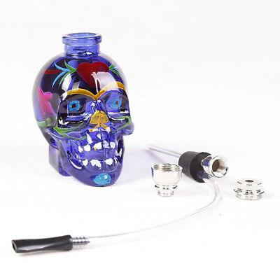Hookah glass pipe glass bong glassware water pipes smoking pipes skull shape