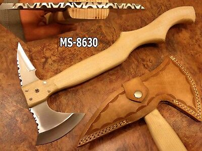 "19.3"" Kma Cutlery Works Custom D2 Tool Steel Hatchet Axe Knife Ms-8630"