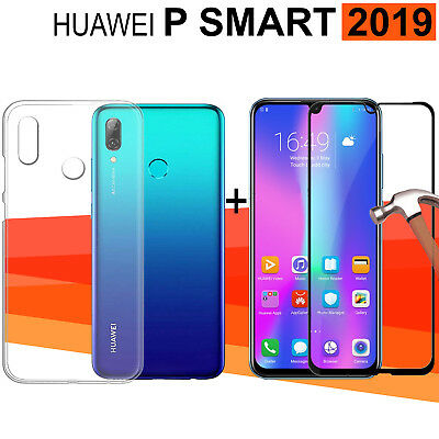 Huawei P Smart 2019 6,2 Inches Protector glass tempered full 3d + cover