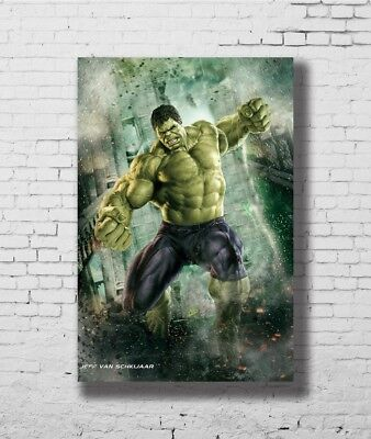 Hulk   The Avengers Marvel Superheroes Movie New 12x18 24x36 Silk Art Poster F1