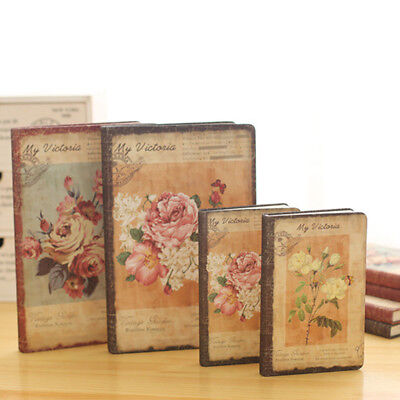 10X(Retro Floral Flower Schedule Book Diary Weekly Planner Notebook School O G5)