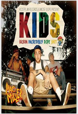 Mac Miller KIDS (Kickin Incredibly Dope Shit) Custom Wall Silk Art Poster