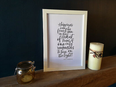 A4 Wall Art Home Decor - Harry Potter Quote High Quality print Albus Dumbledore
