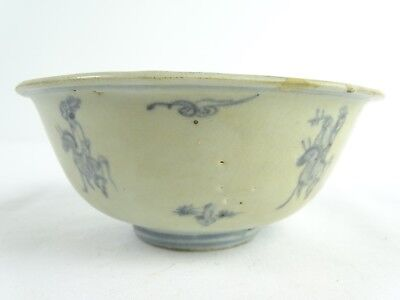 Fine Antique Chinese Ming Dynasty 16th Century Blue & White Bowl China