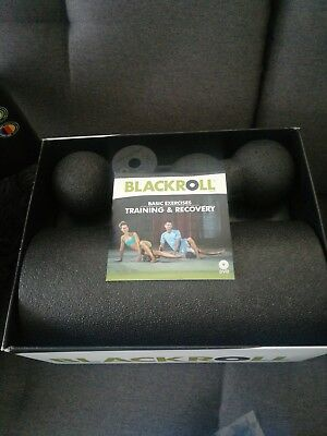 Blackroll Blackbox Massage-Set Massagerolle Faszienrolle Faszienball Duoball NEU