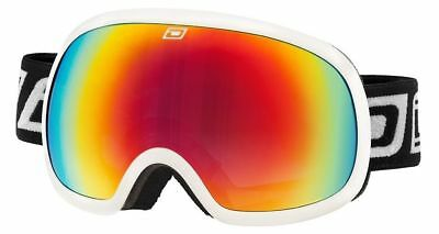 a3ddb6d271a Dirty Dog Scapegoat Ski Goggles Snowboarding White Frame Red Fusion Mirror  Lens