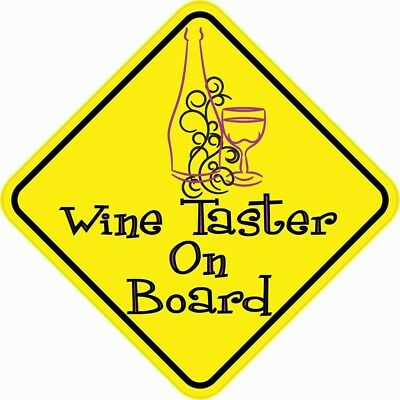 5in x 5in Wine Taster On Board Magnet Car Truck Vehicle Magnetic Sign