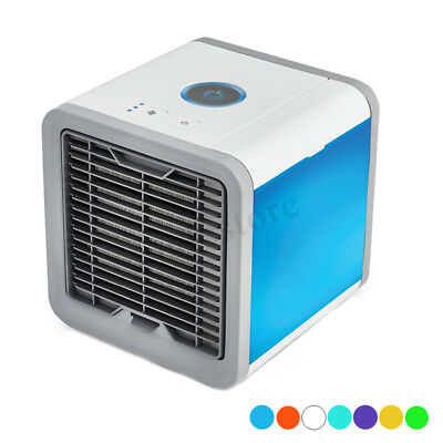 Personal Mini Air Conditioner Cool Cooling LED Fan Cooler For Bedroom Car Home