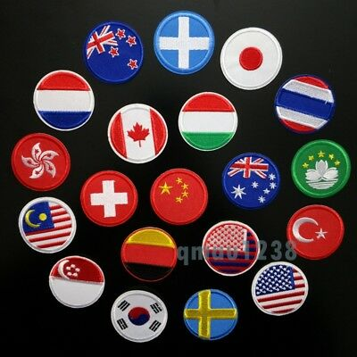 Embroidered Flag Sew On/ Iron On Patch National Country Flag Choose Your Country