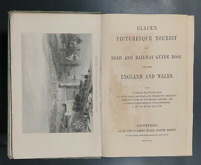 Black's Picturesque Tourist and Road and Railway Guide Book England & Wales 1859