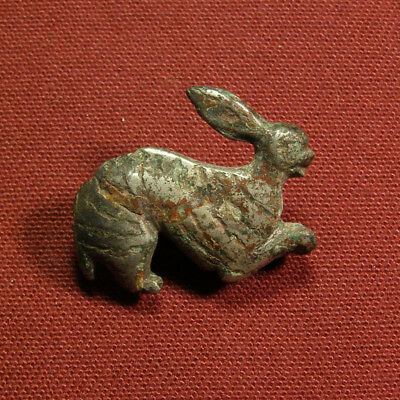 Roman silvered plate brooch with niello work - zoomorphic