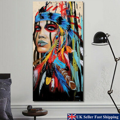 New Indian Woman Canvas Oil Painting Print Picture Home Wall Art Decor 50X100cm