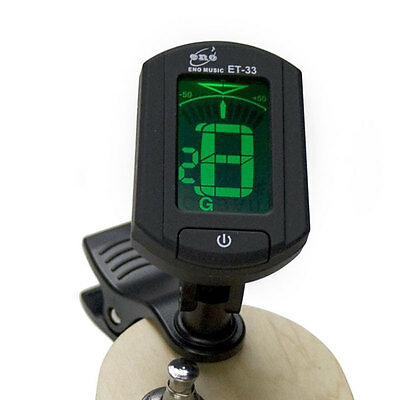 ENO Music ET-33 Mini Clip Digital Tuner For Guitar Bass Violin Ukulele Chromatic