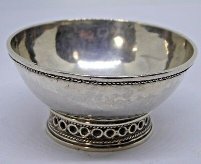 A Small Ornate Antique / Vintage Silver / Silver Plated or White Metal Dish Bowl