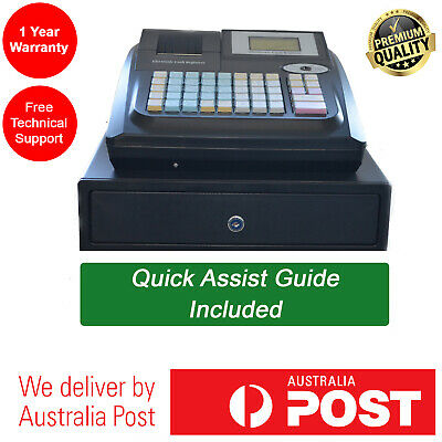 Heavy Duty Electronic Cash Register POS with Drawer 36 Departments Raised Keys