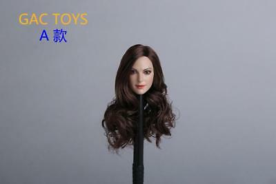 1/6 scale Anne Hathaway Catwoman Head Sculpt long hair For Hot Toys Phicen