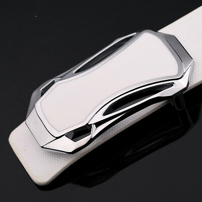 Luxury Men's Silver Alloy Sports Car Strap Belt Buckle Fashion Pin Buckle