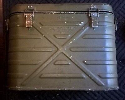 Vintage 1979 U.S. Military Army Food Cooler Container + 3 Metal Food Canisters